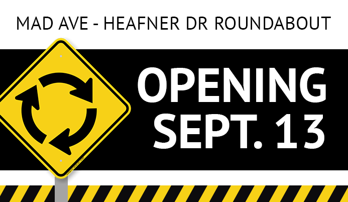 Haefern Drive and Madison Ave Roundabout Opening Sept. 13